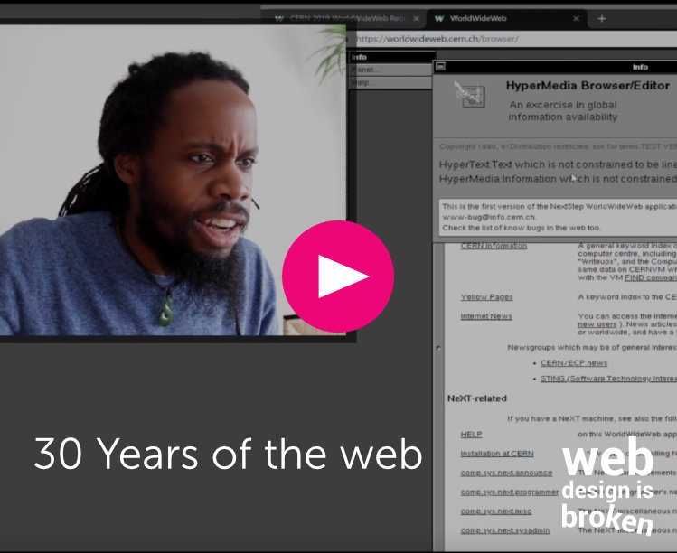 30 years of the web vlog thumbnail Six Two Tech